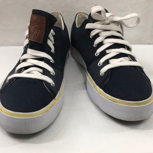 Polo Blue, White & Yellow Cantor Sneakers Size 12D
